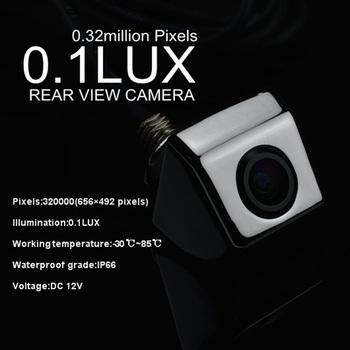 Wholesale 10pcs/lot 0.1 Lux 320000 Pixels Car Camera Real View Camera PC1030N Sensor Zinc Alloy Shell SEV006