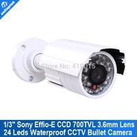 """700TVL 1/3"""" Sony Super HAD CCD II board CCTV 24IR 3.6mm Lens Nightvision Bullet outdoor Camera"""