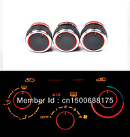 Car body parts,Refitting Fits For Peugeot 206 207 A/C heat control knobs Switch Black