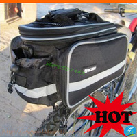 Wholesale cycling bicycle bag, mountain bike bags, bicycle rear carrier dual saddle bags, rain cover camel bag free shipping