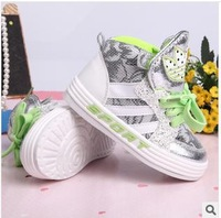 Free Shipping 2014 Children's sport shoes high waist boy Girls sport shoes Kids Brand Running Shoes Sneakers Eur size 21-25