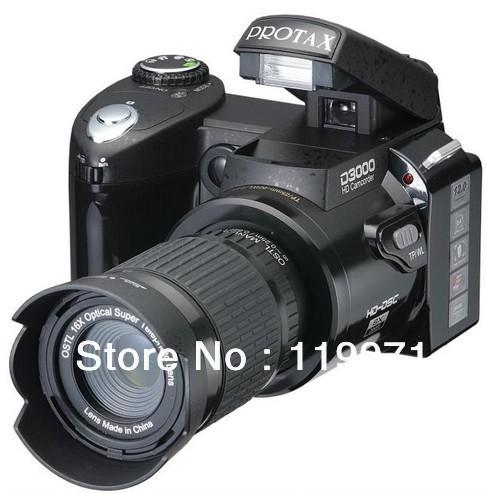 """De nouveaux types d3000 appareil photo reflex numérique photos 16mp3.0"""" ltps écran, fois +16 téléobjectif + objectif grand angle"""