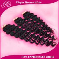 300g/lot Malaysian Virgin Hair Deep Wave Machine Weft 6A Human Hair weaves 12-30inch Natural Color Free Shipping