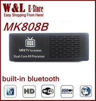 MK808 Bluetooth MK808B Mini PC RK3066 Dual Core Cortex-A9 1.6GHz 1GB / 8GB Android 4.2.2 Google TV Dongle Stick MINI PC