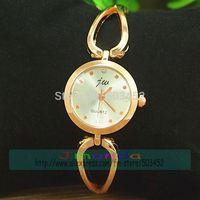JW-3427 50pcs/lot Disigner Ladies Bracelet Quartz Watch Rose Gold Cowboy Design Dress Crystal Watch Wrap Girl Summer JW Watch