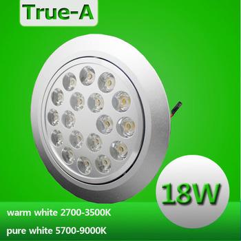 "LED 18W downlamp ceiling cabinet light  panel  220V warm white3000K  cool white 6000K  indoor kitchen 6""  recessed ming mounted"