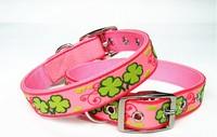 Pet Product Dog Collar Cat Collar PVC Nylon Leather Large Dog Collar Puppy & Cat Collar Pet Product Wholesale 12pcs/lot