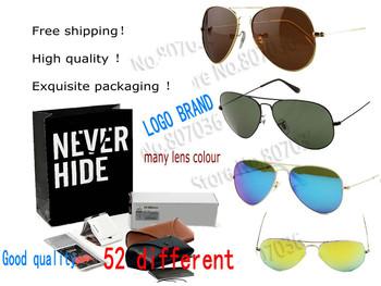 (55 models Glasses ) 2014&3025 Aviator sunglasses ray men&women sunglasses G15&polarized lens, UV Protection+original packaging