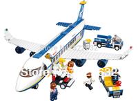 Sluban Building Blocks The Airbus Aircraft Airplane Educational Bricks Hot Toy for Kid Gift Assembling Blocks Model Building