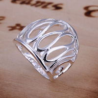 Free Shipping 925 Sterling Silver Ring Fine Fashion Thumb Hollow Ring Women&Men Gift Silver Jewelry Finger Rings SMTR059