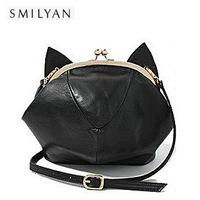 Free shipping! 2014 new fashion women PU leather funny cute mini vivi cat bag all match shoulder messenger bags pink/black gift