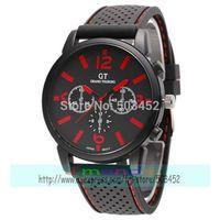 105pcs/lot Great Sale Excellent Design GT Men Sport Racing Watch Boy Quartz Cool Watch Summer Style Wristwatch Photo Colors