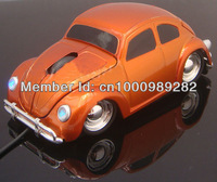 5xOrange Free shipping 3D USB Optical Wired Mouse Car mouse VW Beetle shape Computer Mouse Bug Beatles for PC/ laptop & Desktop
