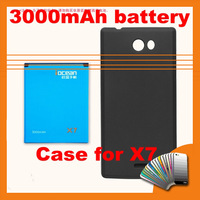 Free HongKong Post Shipping 100% Original High Quality Spicial PC Case and 3000mAh Battery Kits For Iocean X7, X7S RAM