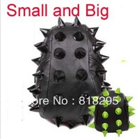 2013 fashion pu leather high quality  small big designs Hedgehog Spike Rivet  cool child backpacks for men women teenagers sale
