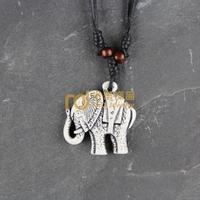 12pcs Wholesale Tibetan Jewelry Yak Necklace Fashion Artificial Bone Pendant Elephant N0281