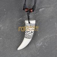12pcs Wholesale Tibetan Jewelry Yak Necklace Fashion Artificial Bone Pendant Ivory N0097