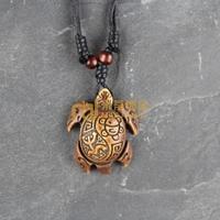 12pcs Free Shipping Indian Jewelry Bone Necklace Classic Unisex Style Pendant Tortoise N0151