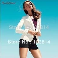 Fashion CasualBlazers Women Colorful Suit Shawl Collar Long Sleeve Slim Plus Sized Blazer Jacket Women Casacos Femininos D114