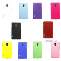 Rubber Hard Coating Skin Case Cover For LG Optimus L7 II Dual P715 Colorful + Screen Protector