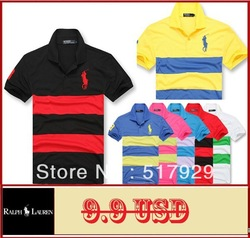 Free Shipping 2013 New Men'sTop Brand Embroidery Polo T shirts Mens Casual Stylish Short Sleeve tshirt T-Shirts M--XXL(China (Mainland))