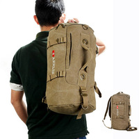 Durable canvas travel backpack mochilas for men Dual function sport handbag shoulder messenger bags bolsas Free shipping