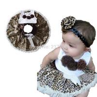 Children's Clothing Children's Sets girls leopard dress sets girls clothing sets children clothing baby girl cotton shirt 01