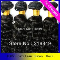 DHL Free shipping 4pcs/lot mix12-20inch aaaaa grade hair,Remy brazilian wave hair,color 1b,brazilian deep wave hairstyles