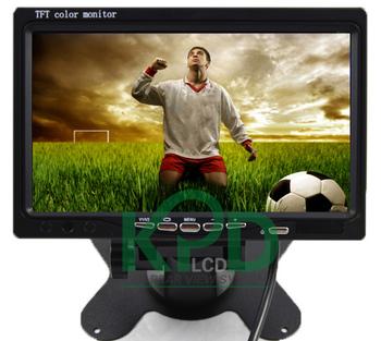 "Wholesale New 7"" TFT LCD Car Monitor Reverse RearView monitor TFT Headrest Stand Car LCD Rearview Monitor Free Shippig"
