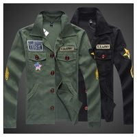 2013 autumn and winter men's jacket fashion coat, Army Men Jacket military jacket ,America fla men coat  big size