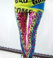 Free shipping 2014 summer new models painted leopard print stretch wild crows big yards female wholesale milk silk leggings