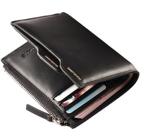 Men's Leather Bifold Wallet Purse Card Case Cash Holder Organizer Fashion Design Checkbook Hipster Passcase NEW Q188