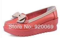 Free shipping Summer women genuine leather shoes fashion flatssingle super-soft female women flats excellent quality