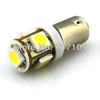 10pcs LED color BA9S 5 SMD 5050 LED Light bulbs 5-SMD T4W 1445 Q65B H6W 182 53 57 Car Indicators Light Interior Bulb Wedge Lamp