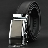 NEW men's fashion genuine leather Auto lock steel buckle business Top grade  belt/waist belt free shipping# p0506