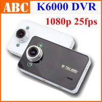 free shipping K6000 2 IR night vision Car DVR Video recorder 1920*1080p 25FPS Cycle Recording OV9712 car camera + sunplus K6000t
