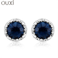 ERA018 Fashion Small Round Ball Charm Stud Earrings Thick 18KGold Plated Austrian Crystal Free Shipping ERA018