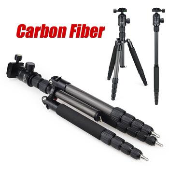 Dic и микрофоном E302C углеродного волокна профессиональный штатив монопод для камеры dslr портативный гибким , чтобы подставкой / лучше , чем Q666C DHL