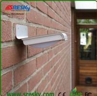 4pcs Solar Powered Lamp Energy saving Outdoor 16 LED Wall Garden Yard Street Ray and Sound sensor activated lightLight