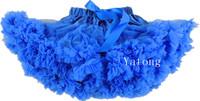 Free Shipping Newest Royal Blue Girls Chiffon Fluffy Tutu Skirts Pettiskirts Baby Girl Ball Gown Summer Skirt Children's Skirts
