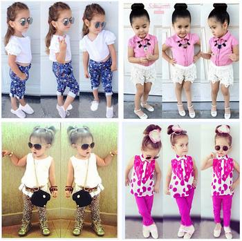 Children's clothing set baby gilrs' autumn owl short t-shirt +jacket+ pant  3-piece set ot baby sets  80 90 100