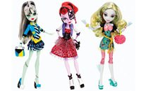 MONSTER HIGH Dolls Original, Picture Day Series, Frankie Stein / Operetta / Lagoona Blue,dolls for girls