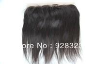 "Silky closure peruvain hair straight hair natural colour free style 13""x2"" lace frontal closure bleached closure"