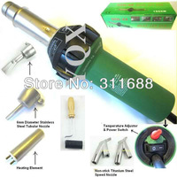 1500W Plastic Hot Air Torch Welding Gun Welder + 2x Nozzles + 2x Speed Nozzle +1x Heater Element + 1x Roller + some plastic rod