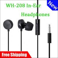 100% Original Genuine WH-208 headset Headphones wh208 Earphones For NOKIA LUMIA 610/620/710/800/900(black  white) Free Shipping