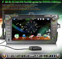 2006- 2012 Toyota Corolla GPS Navigation DVD Player ,TV,Multimedia Video Player system+Free GPS map+Free camera+ Free shipping