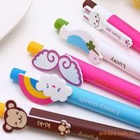 2014 new cute cartoon animal ballpoint pen rainbow wings Peace Dove Korean novelty stationery office school supplies wholesale