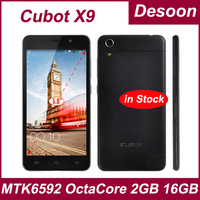 Phone holder gift! !Original Cubot X9 MTK6592 Octa Core 2GB RAM 16GB ROM Smartphone 5.0 Inch IPS OTG HD OGS Cell Phones/Koccis