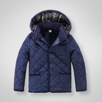 Discount  Autumn Winter Children Hooded detachable cotton-padded clothes boys' fleece coats outerwear