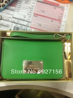 2013 New Famous Brand Name Luxury Day Clutch Women Designer Leather Bags Neon Wristlet Wallet for iPhone Wholesale Free Shipping